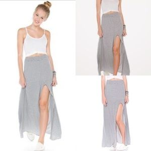 Striped Brandy Melville maxi skirt!
